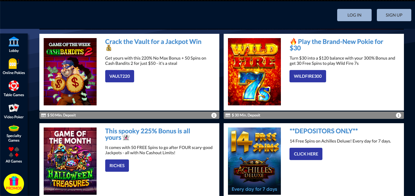 bonuses and promotions true blue casino