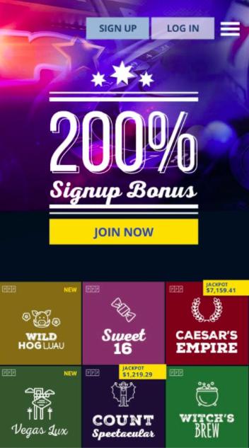 true blue casino app for mobile